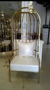 Gold Caged Chair