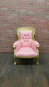 Pink Chair/ Gold Trim