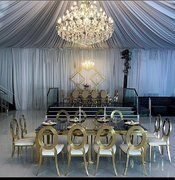Gold Chairs Arrangement