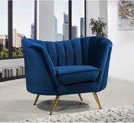 Blue Dream Velvet Chair