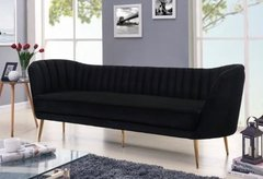 Black Suede Couch
