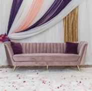 Lovely Velvet Lavender Couch