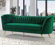 Lucky Emerald Green Velvet Couch