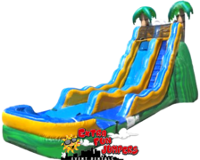 17ft Tropical Single lane Waterslide with Pool 501