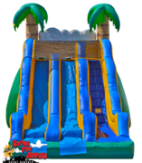 17ft Tropical Dual Lane Dry Slide-  518