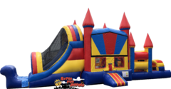 48ft Obstacle Castle Double Slide Combo 624-1&637-2