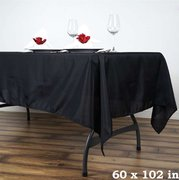 6ft Black Rectangular Linen