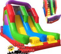 18ft Multicolor Dual Lane Slide  629