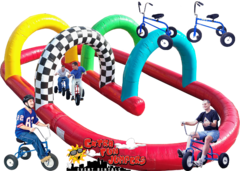 Giant Adult Tricycles with Inflatable Track