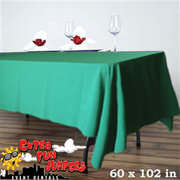 6ft Green Rectangular Linen