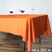6ft Orange Rectangular Linen