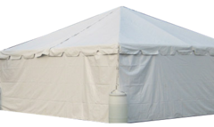 10ft Solid white wall for tent