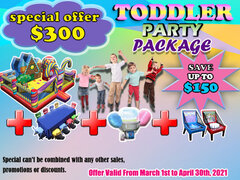 TODDLER PARTY PACKAGE