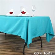 6ft Turquoise Rectangular Linen
