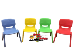 Colorful kid chairs