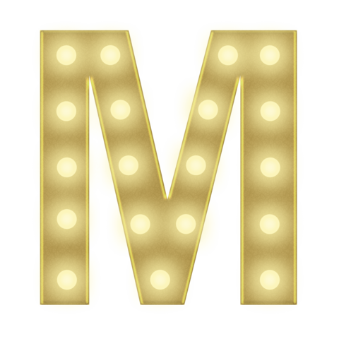 M 3FT MARQUEE LETTER