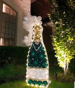 5ft Champagne Bottle Balloon Mosaic