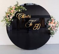 Round Acrylic Black Wall