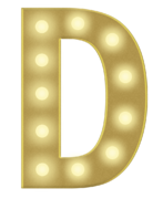 D 3FT MARQUEE LETTER