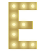 E 3FT MARQUEE LETTER