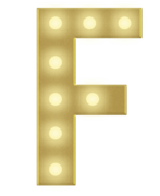 F 3 FT MARQUEE LETTER