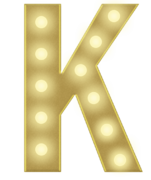 K 3FT MARQUEE LETTER