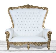 Gold Throne Loveseat