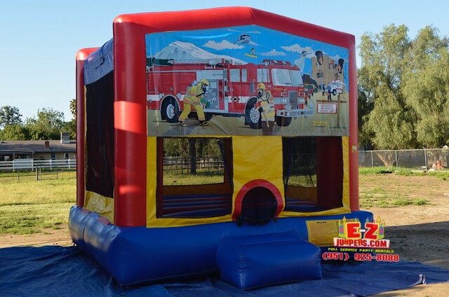 Firefighters / Fire Truck Large Bounce House