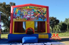 Birthday or Clown Large Bounce House