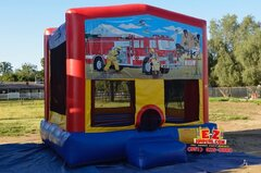 Fire Truck Large Bounce House