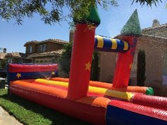 Large Inflatable Slip and Slide with Mini Pool