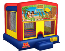 Luau Large Bounce House