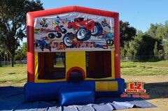 Monster Truck/Dirt Bikes Medium Bounce House