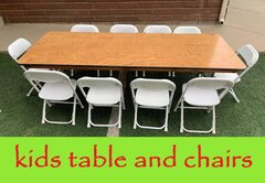 Kids Table and chairs (1 table - 10 chairs)