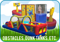 Obstacle course, sports games rentals
