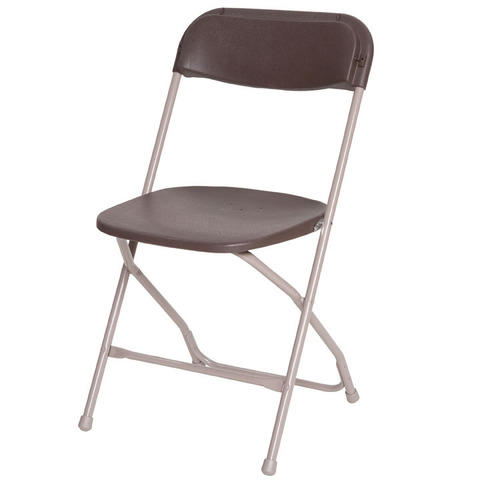 Folding chair - brown