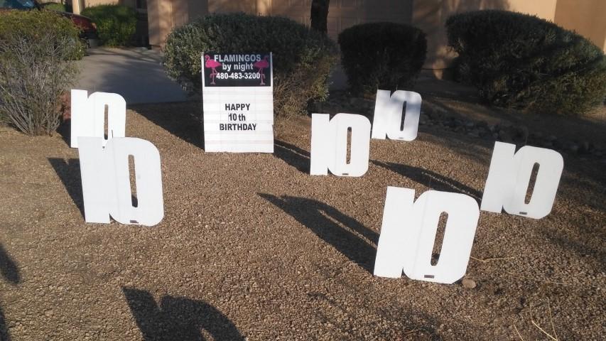 happy 10th anniversary yard signs