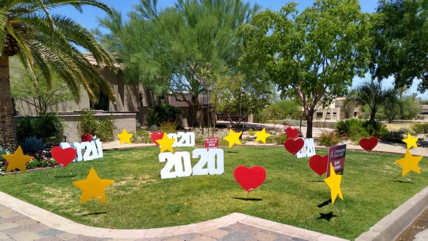hearts and stars and 2020s for a big graduation party