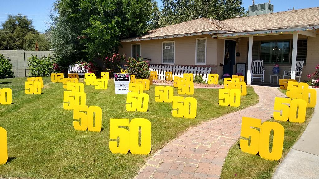 30 big number 50's for a 50th birthday