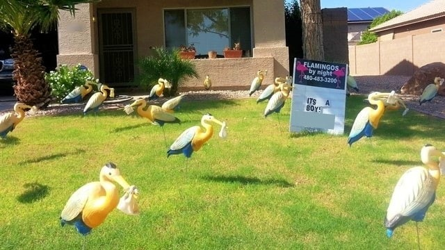 storks yard decorations