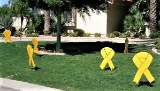 welcome home yellow ribbons yard decorations for your returning soldier