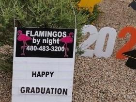 happy Graduation yard card