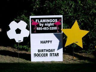 happy birthay soccer star yard sign