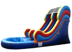 16 ft Multicolor water slide