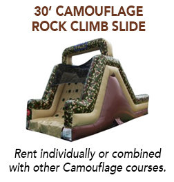 30' Camouflage Rock Wall Slide