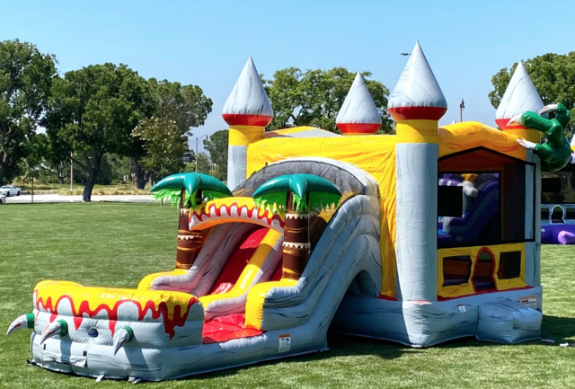 T-Rex Dual Slide Combo Bounce House (Dry)