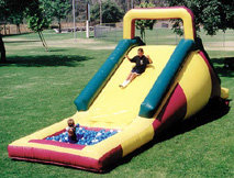 Backyard Water Pit Slide