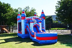 Mega Flash Combo Bounce House with Slide (Wet)