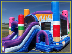 Ice Pop Combo Bounce House with Slide (Wet)