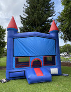 Castle Blue Red Bounce House